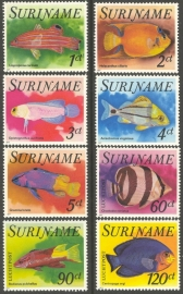 Suriname Republiek  74/81 Luchtpost Vissen 1977 Postfris