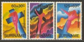Suriname Republiek  761/763 Paasweldadigheid 1993 Postfris