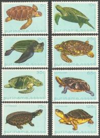 Suriname Republiek 283/290 Luchtpostzegels Schildpadden 1982 Postfris