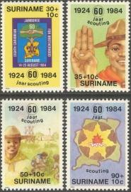 Suriname Republiek 412/415 60 Jaar Scouting Suriname 1984 Postfris