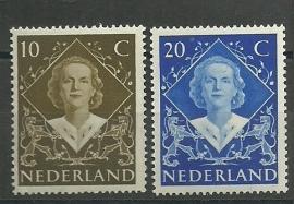 Nvph 506/507 Inhuldigingzegels Postfris