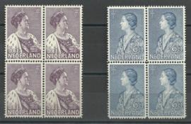 Nvph 265/266 Crisiszegels blokken van 4 Postfris (1)