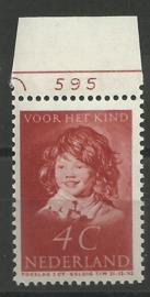 Nvph 302 4 ct Kinderzegel 1937 Postfris met Plaatnummer