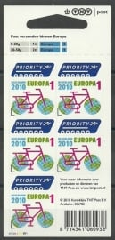 Nvph V2742 5 × 1 Europa TNT Logo Postfris