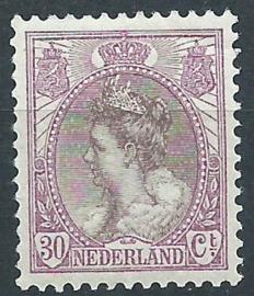 Nvph  72 30 ct Koningin Wilhelmina Bontkraag Postfris (1)
