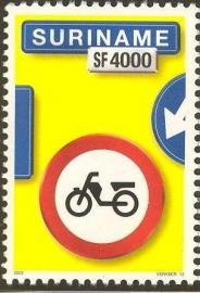 Suriname Republiek 1193 Verkeersbord 13e Uitgifte 2003 Postfris