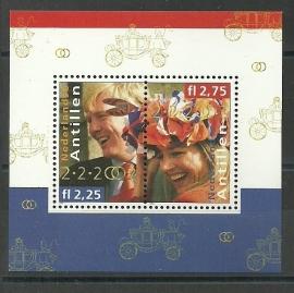 Nederlandse Antillen 1378 Blok Koninklijk Huwelijk Postfris
