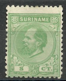 Suriname   4D (11½ × 12)  3ct Willem III Ongebruikt (1)