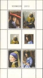 Sint Maarten 188/191 Blok Vermeer 2013 Postfris