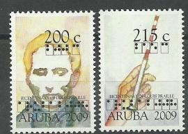 Aruba 417/418 200e Geboortedag Louis Braille Postfris
