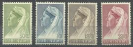 Suriname 175/178 Wilhelmina met Sluier Postfris (2)