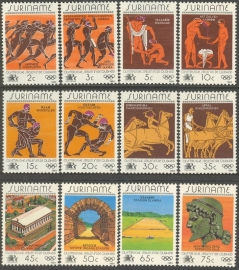 Suriname Republiek 399/410 Olympische Spelen Los Angeles 1984 Postfris