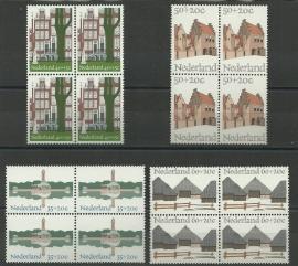 Nvph. 1068/1071 Zomerzegels 1975 in Blokken Postfris
