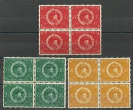 Nederlandse Antillen 258/260 in blokken van 4 Postfris