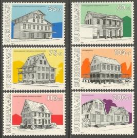 Suriname Republiek  691/696 Monumenten 1991 Postfris