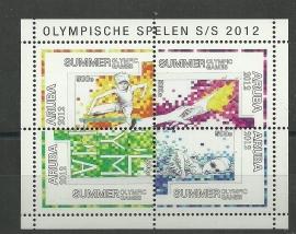 Aruba 601 Blok Olympische Spelen 2012 Postfris