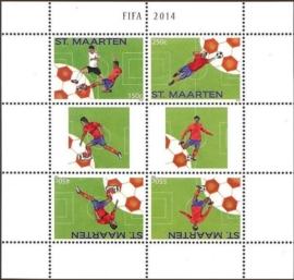 Sint Maarten 226/229 Fifa 2014 Postfris