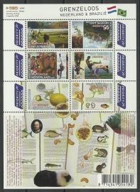 Nvph V2658/2663c Grenzeloos Nederland Brazilië Postfris