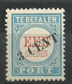 Port  27 3 ct op 1 Gld  1906/1910 Type III Postfris (1)