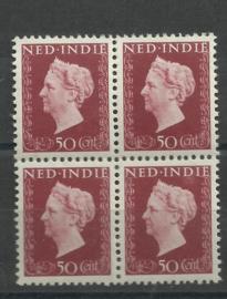 Nederlands Indië 342 PM3 in blok Postfris