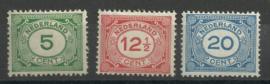 Nvph 107/109 Cijferzegels Postfris (4)