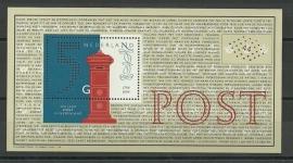 Nvph 1841 Blok 200 jaar Nationaal Postbedrijf Postfris