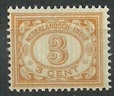 Nederlands Indië 105 3ct bruingeel Cijferzegel 1912/1930 Postfris
