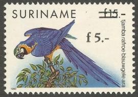 Suriname Republiek  792 Hulpuitgifte Vogel 1993 Postfris