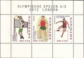 Suriname Republiek  1923 Blok Olympische Spelen 2012 Postfris