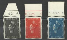 Nvph 310/312  met Etsingnummers Postfris (1)