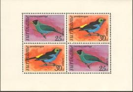 Suriname Republiek  72 Blok Vogels 1977 Postfris