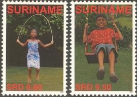 Suriname Republiek 1353/1354 Kinderzegels 2005 Postfris