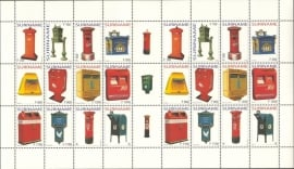 Suriname Republiek 1253/1264 Brievenbussen 2004 Postfris (Compleet Vel)