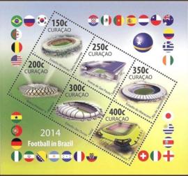 Curaçao Status Aparte 217 Football in Brasil 2014 Postfris