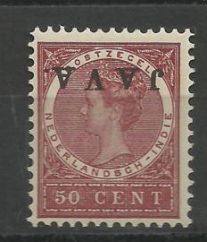 Nederlands Indië  78f 50ct Overdruk Java Kopstaand Postfris (2)