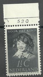 Nvph 300 1½ ct Kinderzegel 1937 Postfris met Etsingnummer