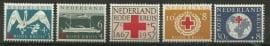 Nvph 695/699 Rode Kruis 1957 Postfris