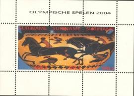 Suriname Republiek 1277 Blok Olymische Spelen 2004 Postfris