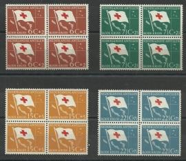 Nederlandse Antillen 293/296 in blokken van 4 Postfris