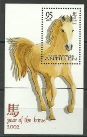Nederlandse Antillen 1380 Blok Chinees Nieuwjaar 2002 Postfris