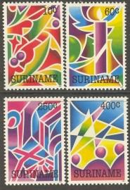 Suriname Republiek  747/750 Kerstzegels 1992 Postfris