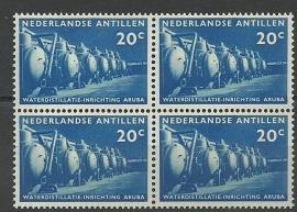 Nederlandse Antillen 303 in blok van 4 Postfris