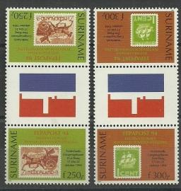 Suriname Republiek  820/821 TBBP A Int. Postzegeltent. Fepapost 1994 Postfris
