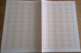 Nvph 900 postfris in  vel van 100 met plaatfout