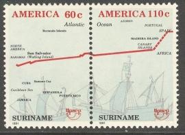 Suriname Republiek  703/704 U.P.A.E. 1991 Postfris