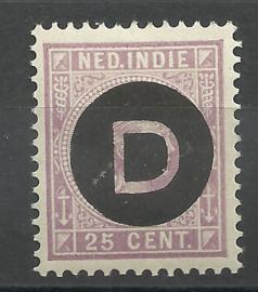 Nederlands Indië Dienst  5 25ct 1892-1897 Postfris (2)