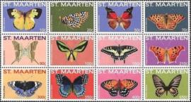 Sint Maarten 238/249 Vlinders 2014 Postfris