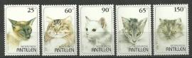 Nederlandse Antillen 1102/1106 Katten 1995 Postfris