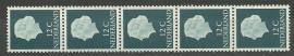 Rolzegel 618 Rb 5 strip Postfris