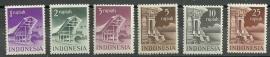Indonesië 383/388  Gebouwen Postfris (2)